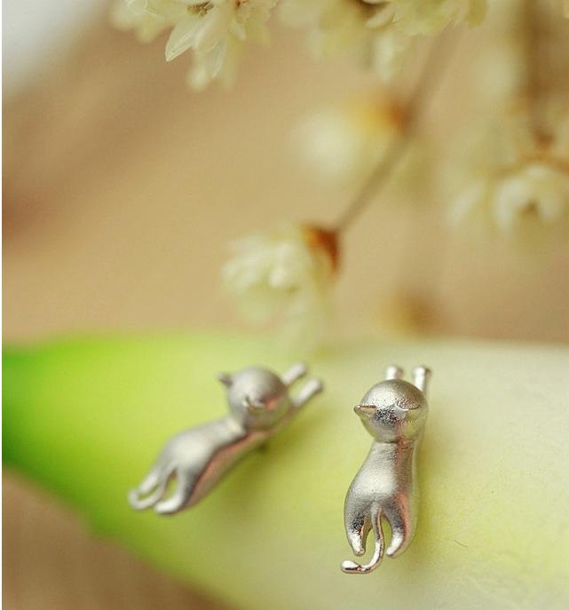 Серьги-гвоздики «Котики»