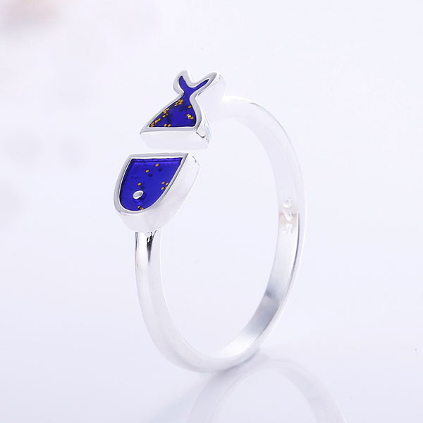 Кольцо «Blue fish»