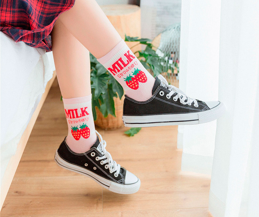 Носочки «Milk strawberry»