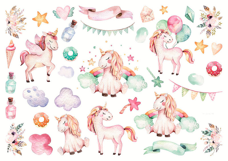Наклейки «Magical unicorn»