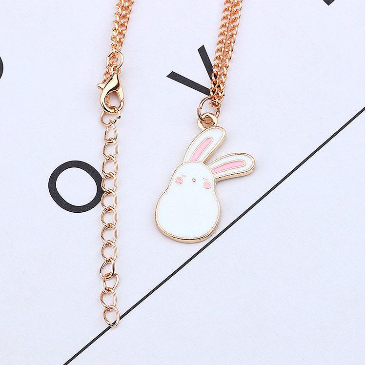 Подвеска на цепочке «Белый заяц»