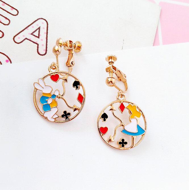 Серьги «Алиса и кролик»