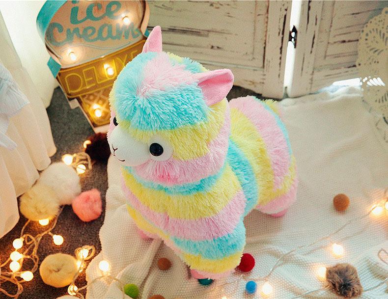 Мягкая игрушка «Радужная лама» маленькая