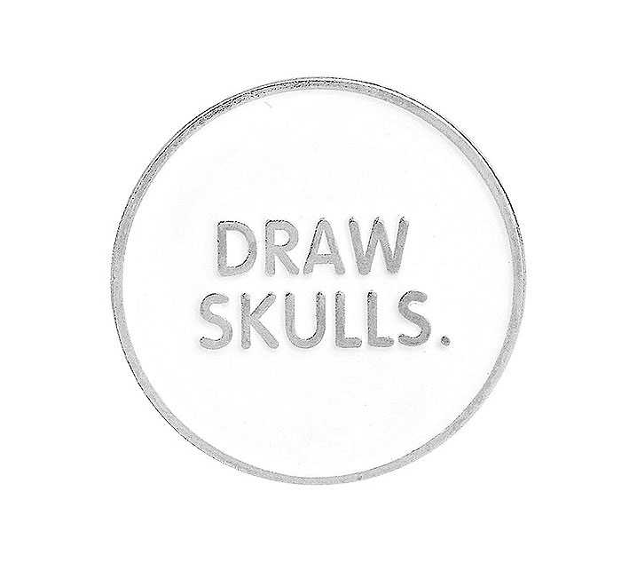 Брошь-значок «Draw skulls»