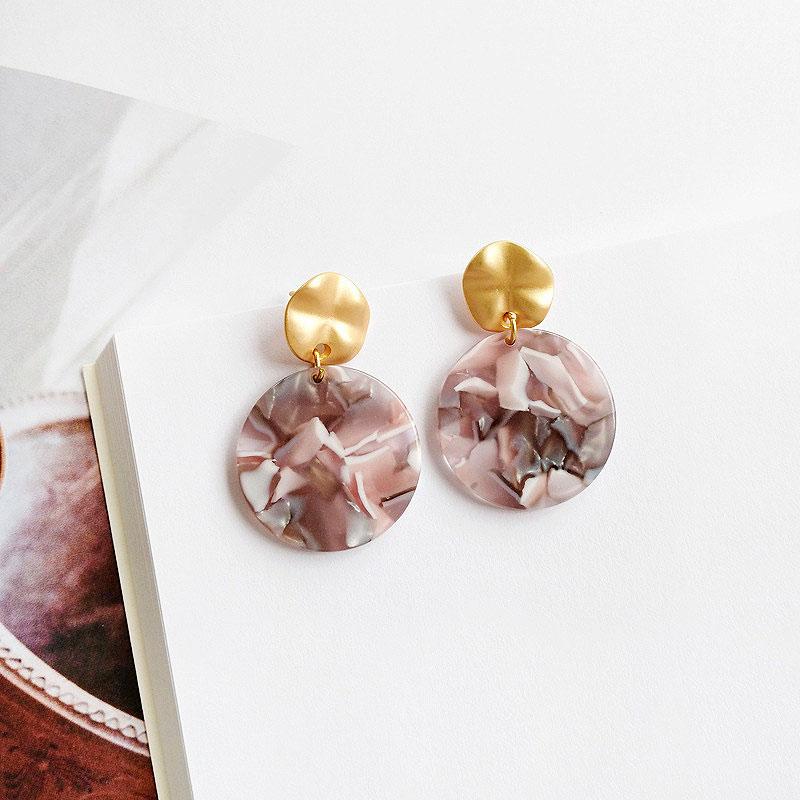 Серьги «Retro amber»