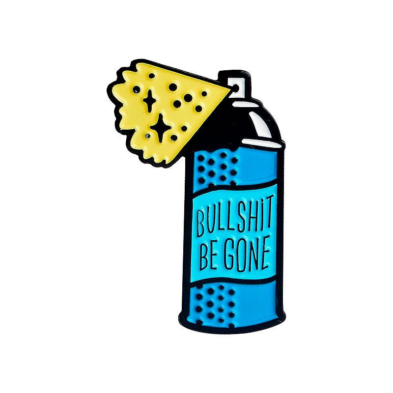 Брошь-значок «Bullshit be gone»