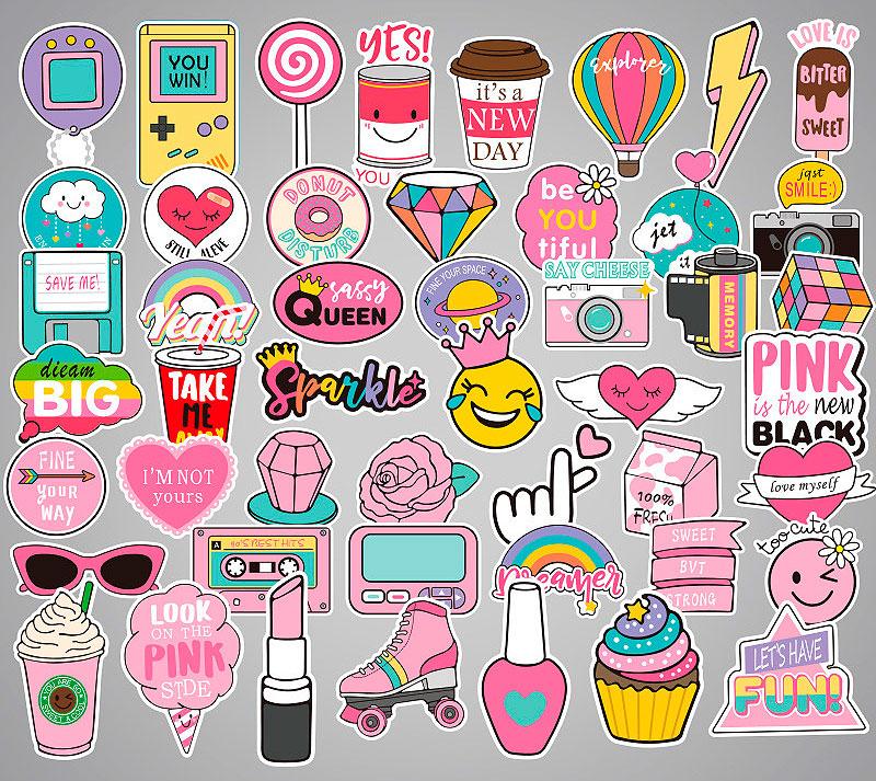 Набор наклеек «Pinky girl»