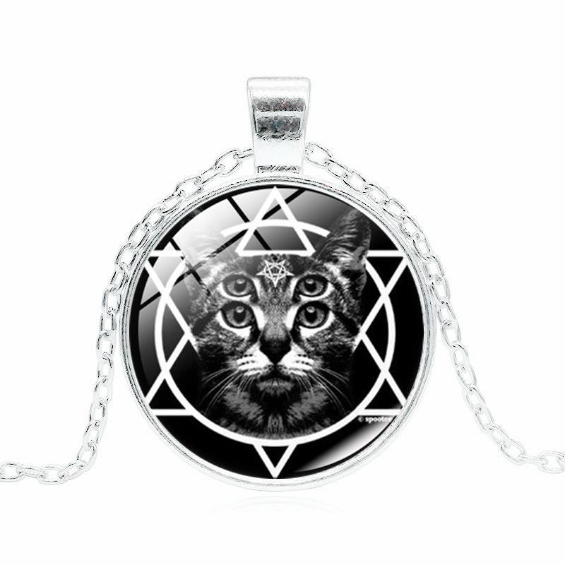 Кулон на цепочке «Pentagram and cat»