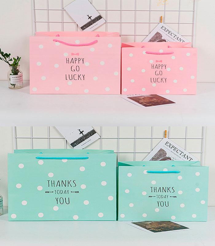 Подарочный пакет «Happy go lucky» большой