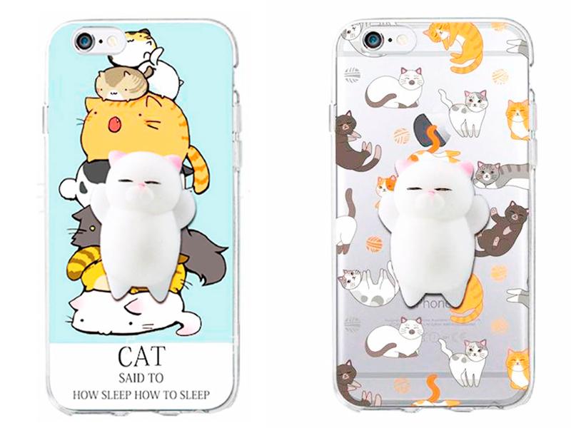 Чехол-антистресс для iPhone «Relaxed cat»