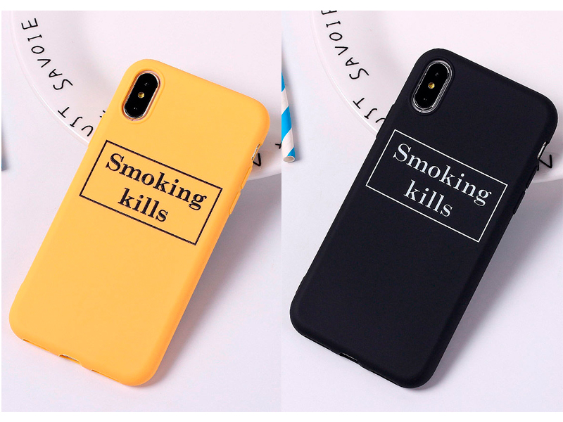 Чехол для iPhone «Smoking kills»
