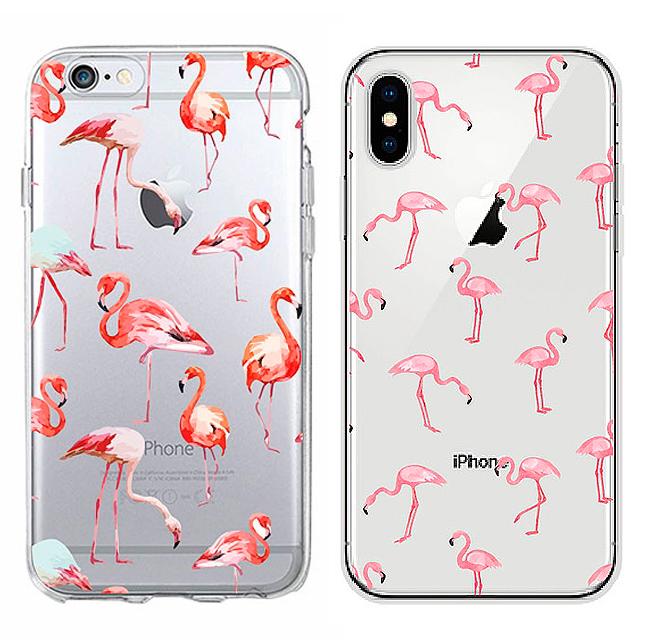 Чехол для iPhone «Tropical flamingo»