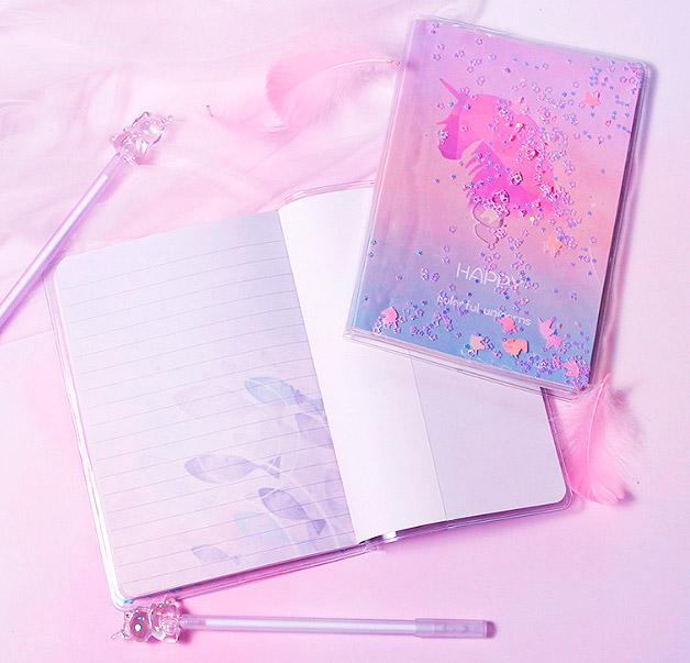 Блокнот с ручкой «Happy unicorn»