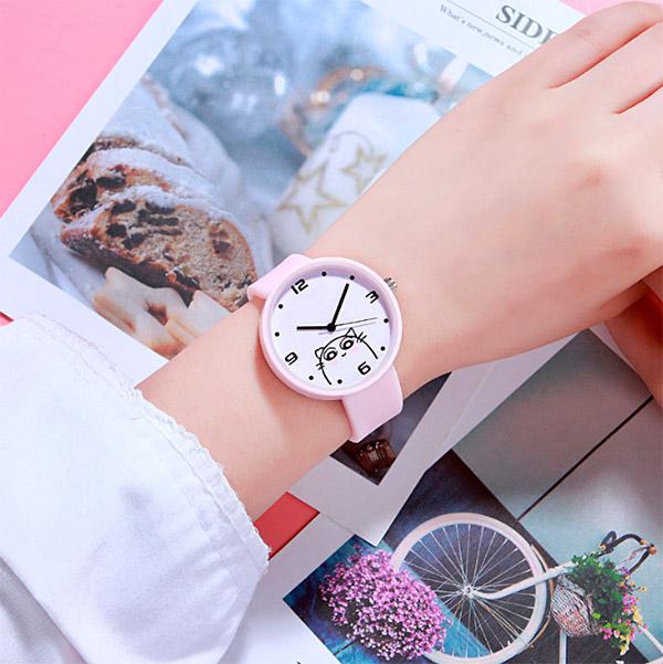 Наручные часы «Drawn cat»
