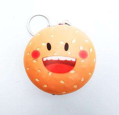 Брелок-сквиши «Улыбающийся гамбургер»