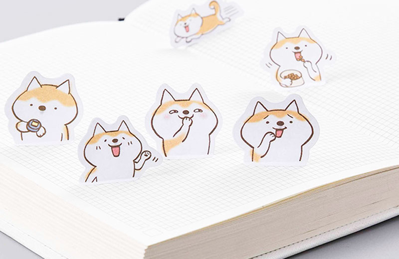 Набор наклеек «Joyful dog»