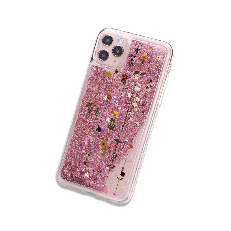 Чехол для iPhone «Flowers and sequins»