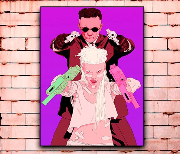 Постер «Die Antwoord» средний