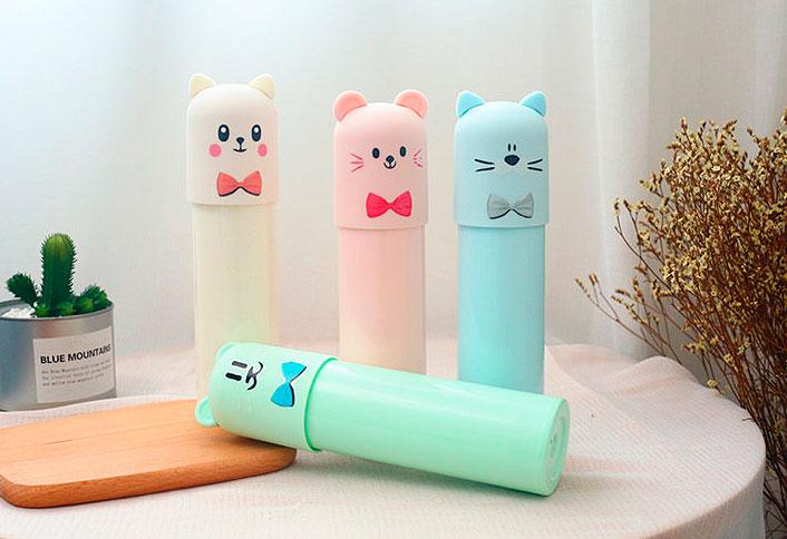 Бутылочка «Котик с бантиком»