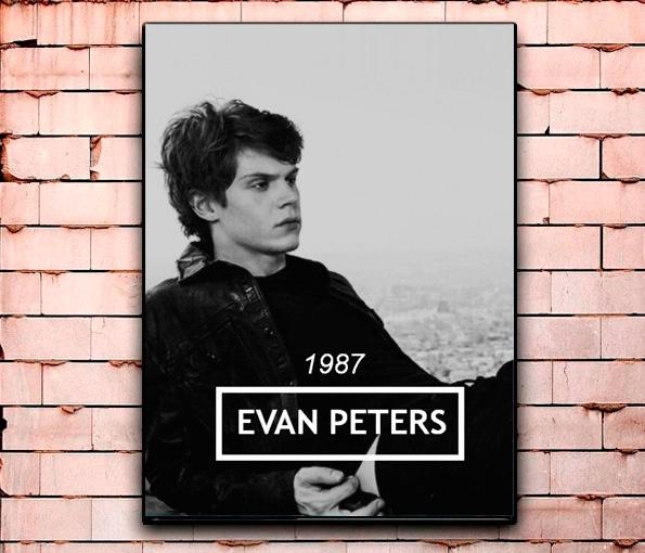 Постер «Эван Питерс» большой