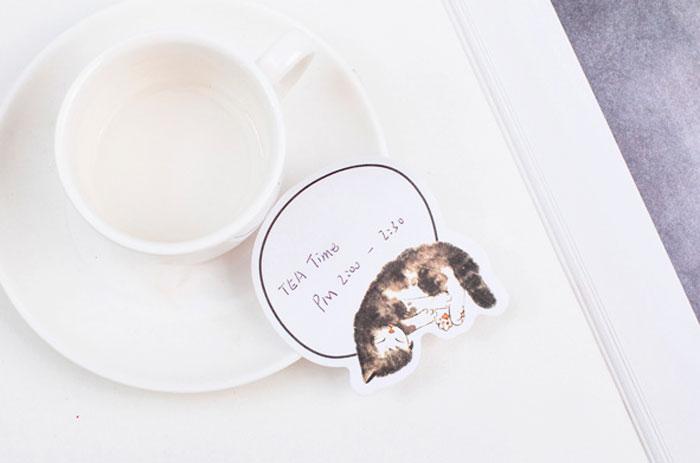 Набор стикеров «Спящий котик»