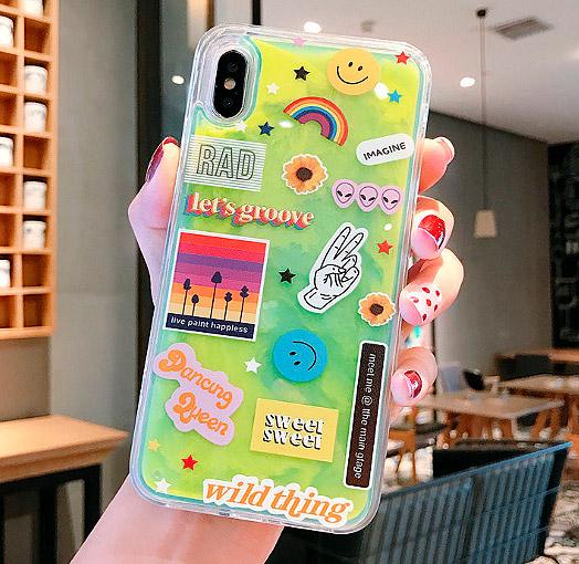 Светящийся чехол для iPhone «Let's groove»