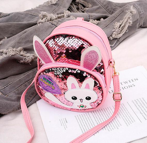 Рюкзак с двусторонними пайетками «Honey rabbits»