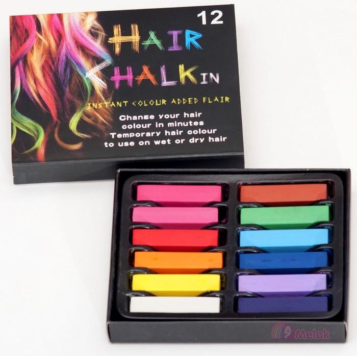 Мелки для окрашивания волос, 12 штук