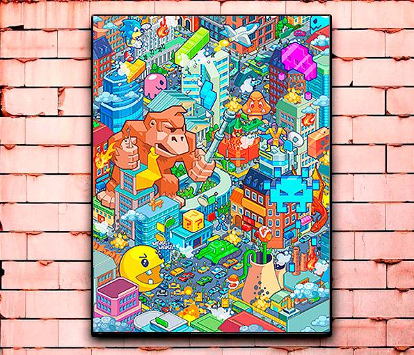 Постер «Pixel world» большой