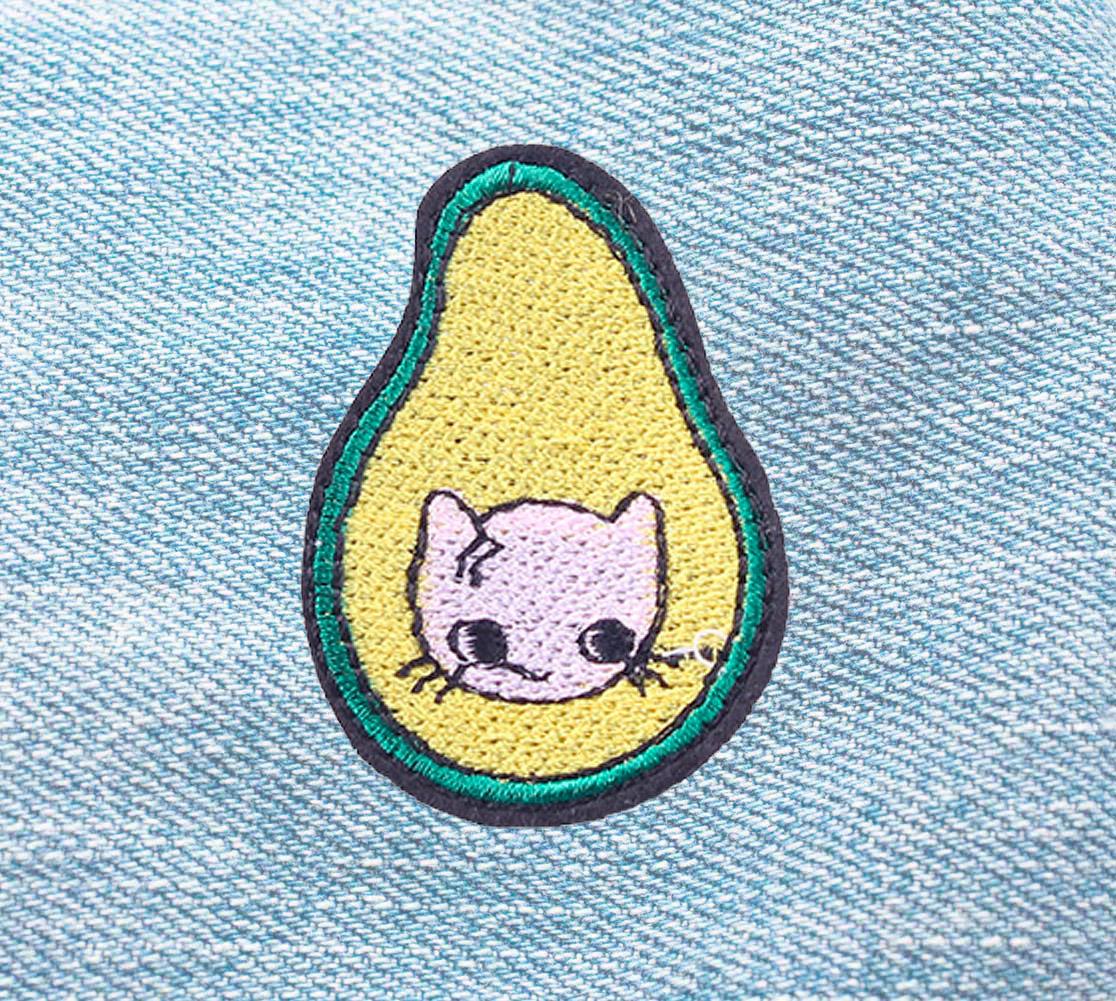 Нашивка «Кот-авокадо»
