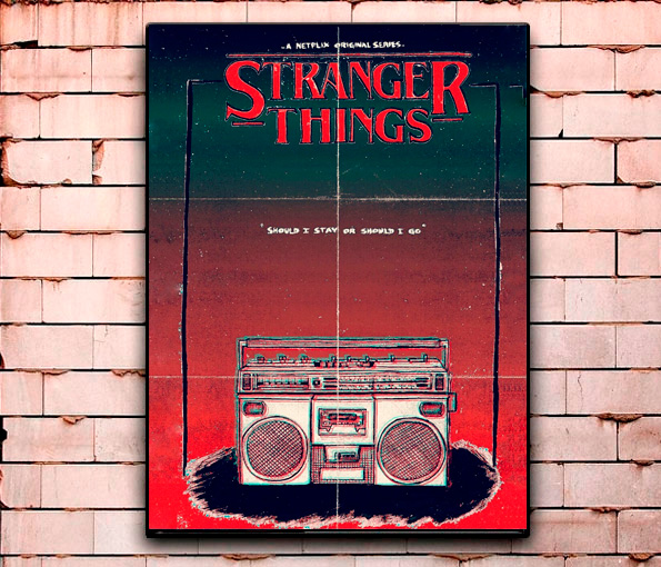 Постер «Stranger Things» средний