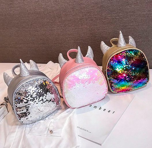 Рюкзак с пайетками «Единорог»