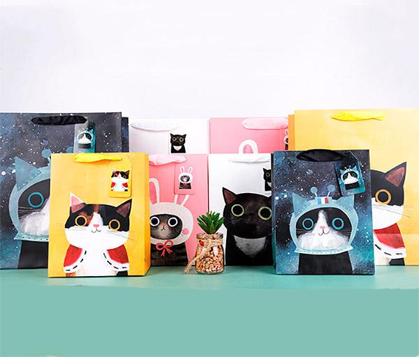 Подарочный пакет «Super cat» средний