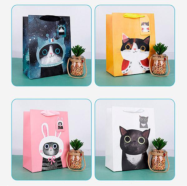 Подарочный пакет «Super cat» маленький