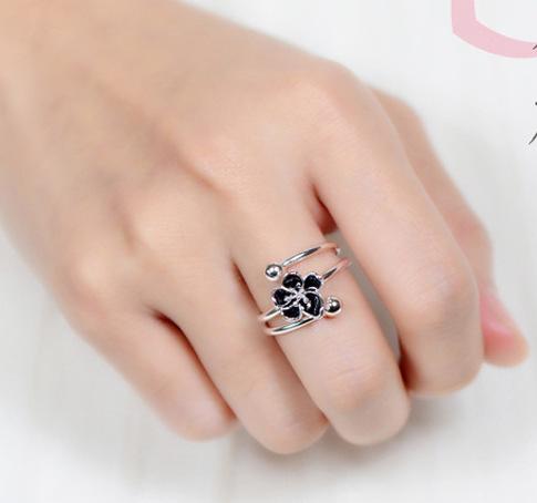 Кольцо «Black flower»