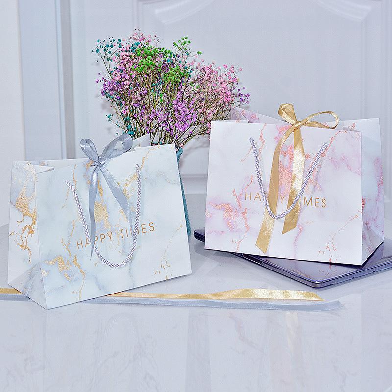 Подарочный пакет «Marble» средний