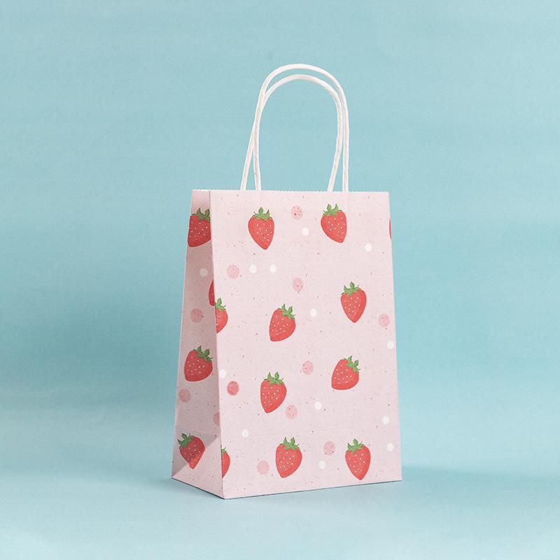 Подарочный пакет «Juicy strawberries» маленький