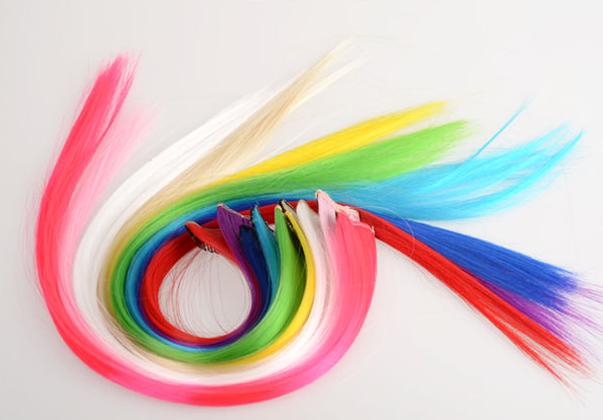 Цветные накладные пряди (цена за штуку)
