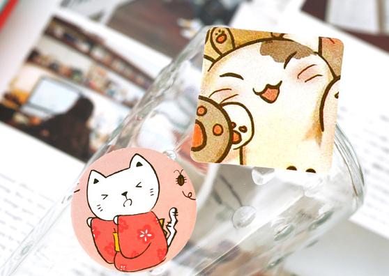 Набор наклеек «Котики»