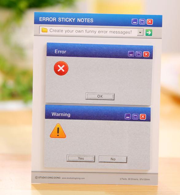 Набор стикеров «Error sticky notes»