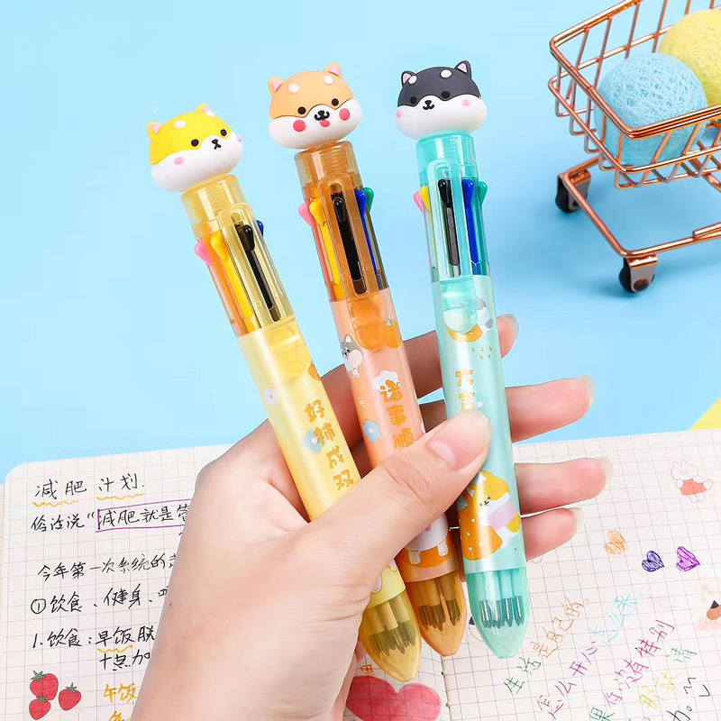 Ручка с 8-ю стержнями «My favorite dog»