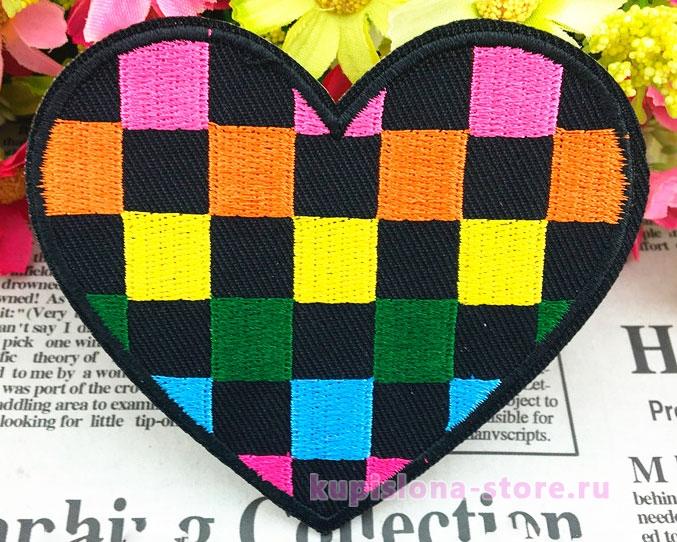 Нашивка «Шахматное сердце»
