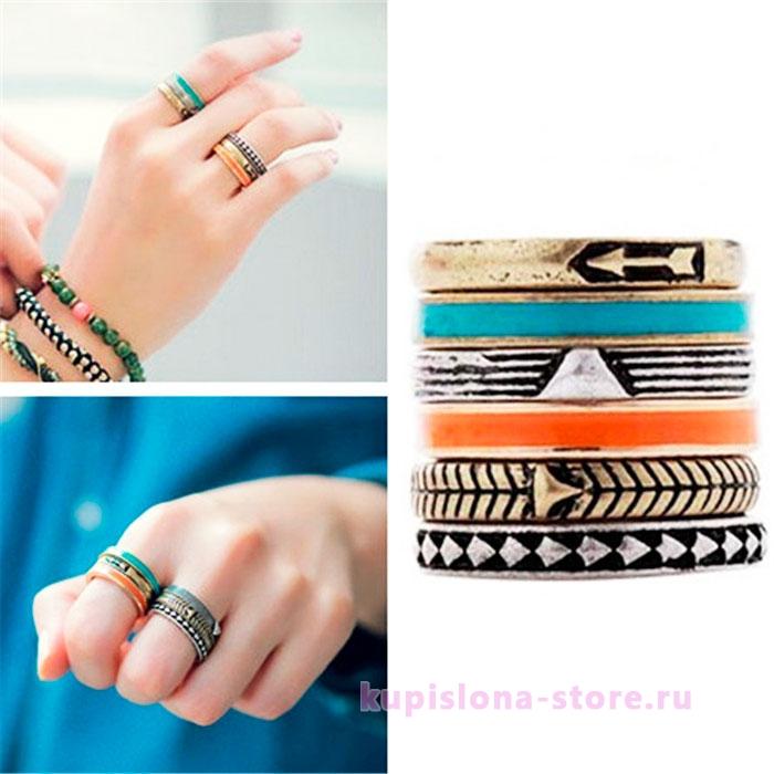 Кольца «Богемский стиль»