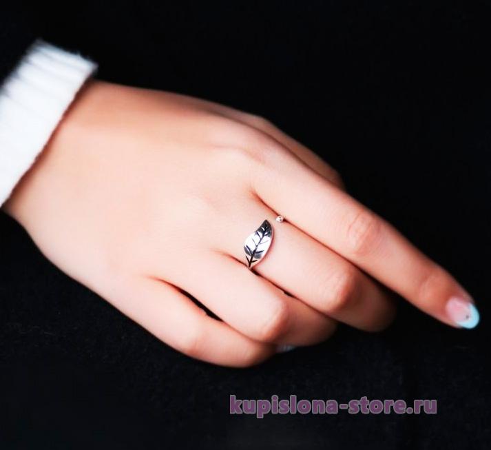 Кольцо «Silver leaf»