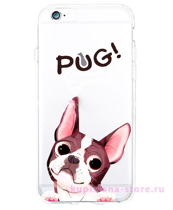 Чехол для iPhone «Pug»