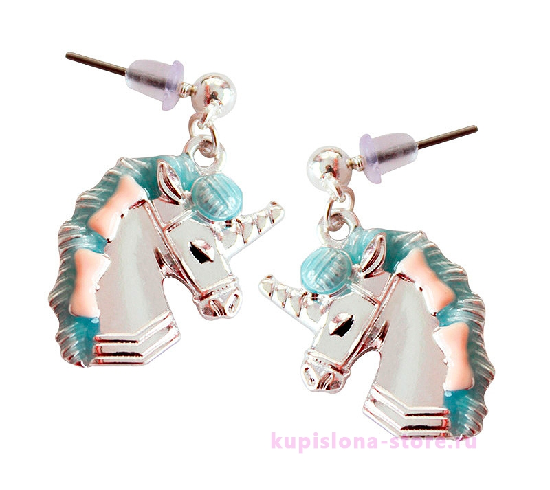 Серьги «Lady unicorn»