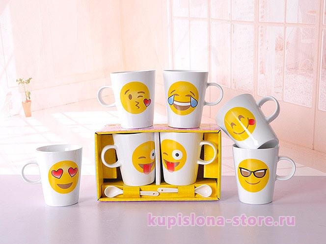Подарочный набор кружек «Emoji»