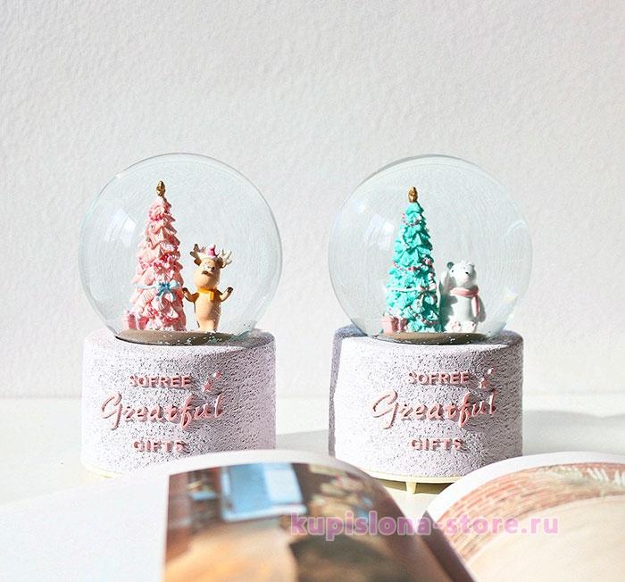 Стеклянный шар «Моя новогодняя елка»