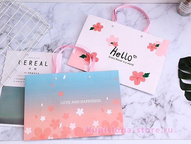 Подарочный пакет «Every flower is a world»