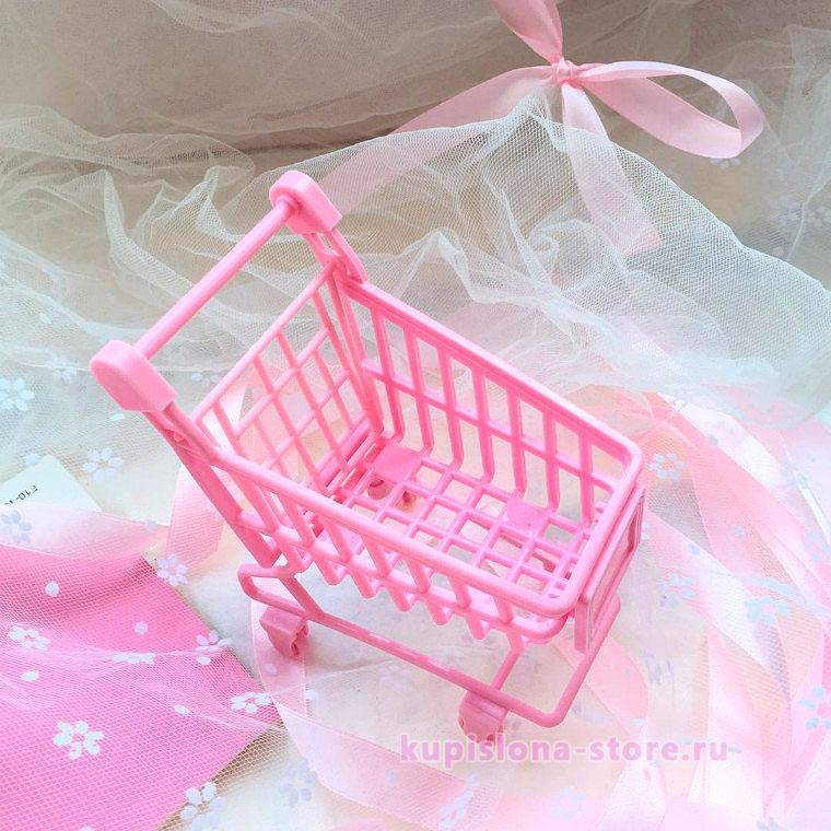 Подставка для мелочей «Розовая тележка»